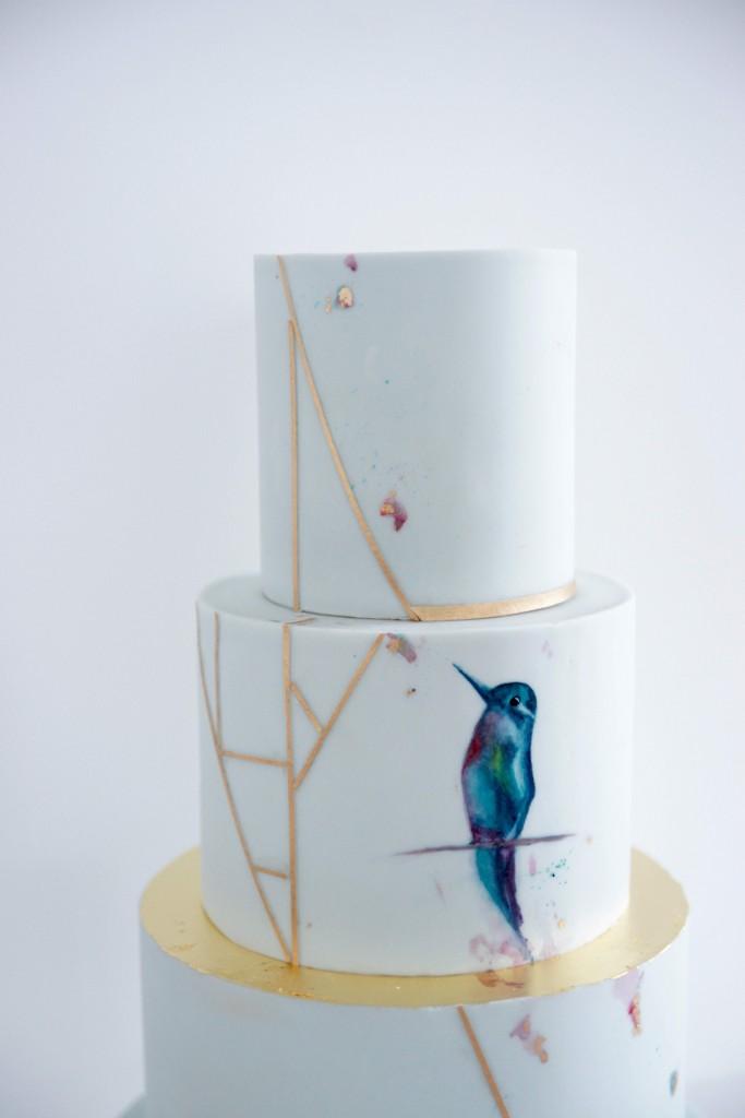 Kolibri Hochzeitstorte Detail